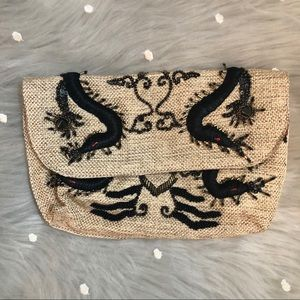 Beaded Dragon Clutch